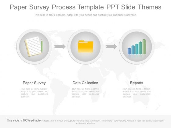 paper survey process template ppt slide themes powerpoint templates