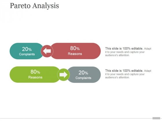 Pareto Analysis Tamplate 1 Ppt PowerPoint Presentation Guidelines