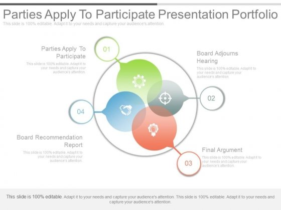 Parties Apply To Participate Presentation Portfolio