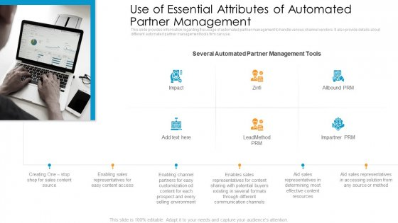 Partner Advertisement Strategy Use Of Essential Attributes Of Automated Partner Management Ideas PDF
