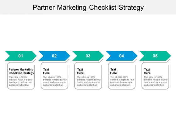 Partner Marketing Checklist Strategy Ppt PowerPoint Presentation Pictures Gallery Cpb