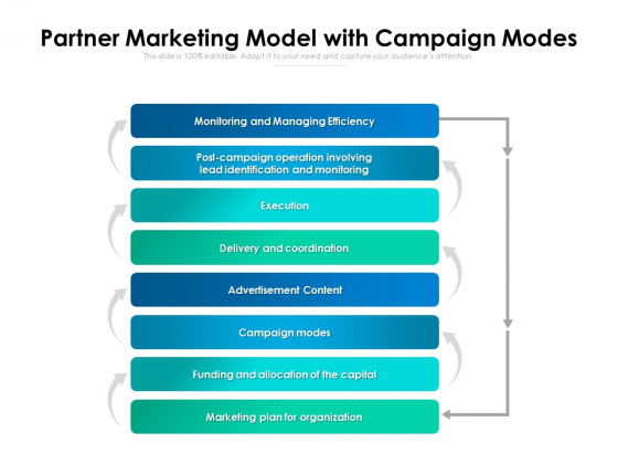 Partner Marketing Model With Campaign Modes Ppt PowerPoint Presentation Styles Introduction PDF