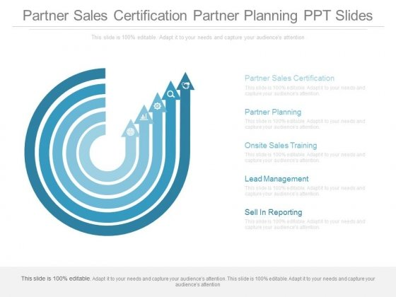 Partner Sales Certification Partner Planning Ppt Slides