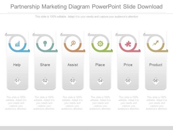 Partnership Marketing Diagram Powerpoint Slide Download