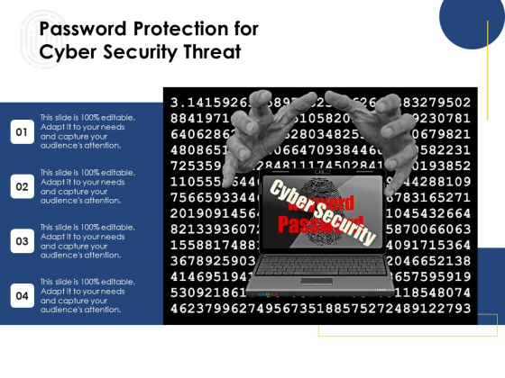 Password Protection For Cyber Security Threat Ppt PowerPoint Presentation Icon Show PDF