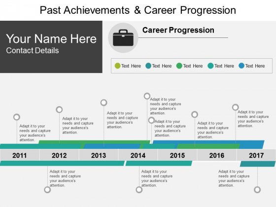 Past Achievements And Career Progression Ppt PowerPoint Presentation Summary