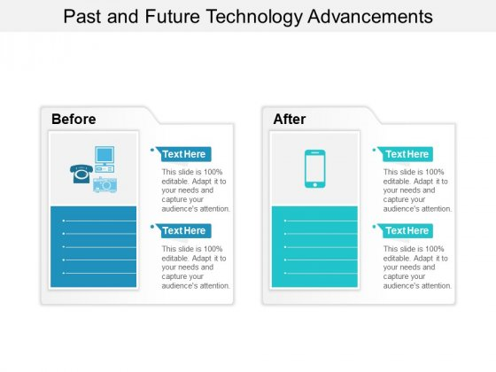 Past And Future Technology Advancements Ppt PowerPoint Presentation Styles Design Ideas