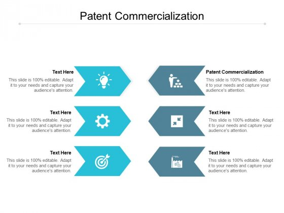 Patent Commercialization Ppt PowerPoint Presentation Infographics Graphics Pictures Cpb