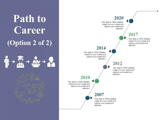 Path To Career Ppt PowerPoint Presentation File Visuals