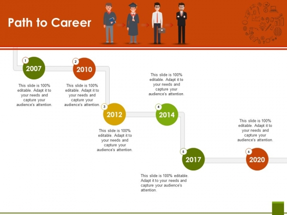 Path To Career Ppt PowerPoint Presentation Pictures Objects
