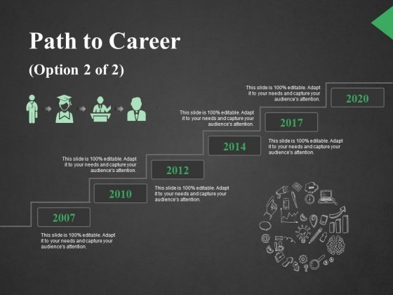 Path To Career Ppt PowerPoint Presentation Portfolio Backgrounds