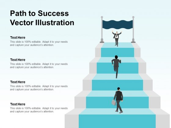 Path To Success Vector Illustration Ppt PowerPoint Presentation Model Template