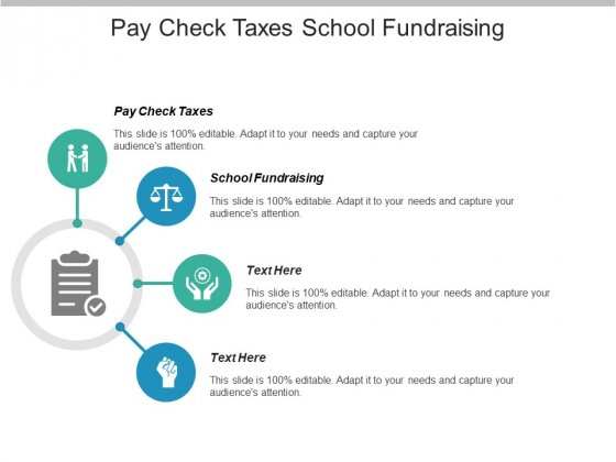 Pay Check Taxes School Fundraising Ppt PowerPoint Presentation Infographics Images