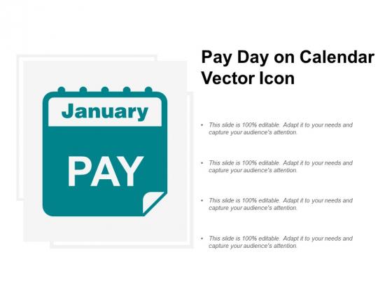 Pay Day On Calendar Vector Icon Ppt PowerPoint Presentation Portfolio Vector