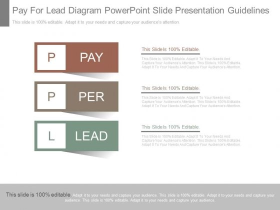 Pay For Lead Diagram Powerpoint Slide Presentation Guidelines