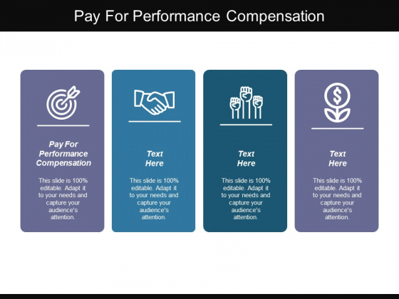 Pay For Performance Compensation Ppt PowerPoint Presentation Inspiration Show