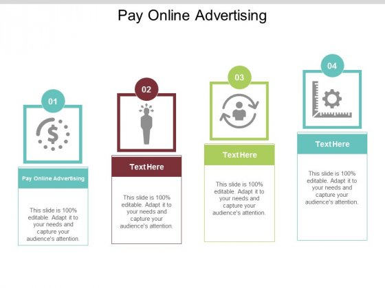 Pay Online Advertising Ppt PowerPoint Presentation File Backgrounds Cpb