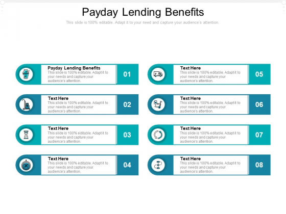 Payday Lending Benefits Ppt PowerPoint Presentation Infographics Images Cpb Pdf