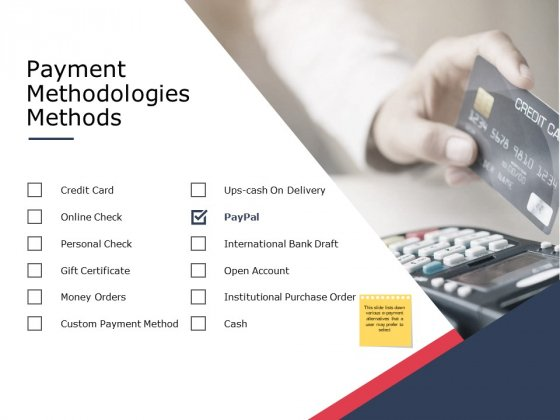 Payment Methodologies Methods Ppt PowerPoint Presentation File Templates