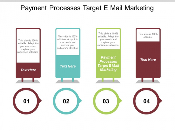 Payment Processes Target E Mail Marketing Ppt PowerPoint Presentation Icon Example Cpb