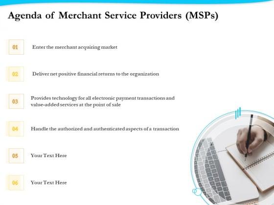 Payment Processor Agenda Of Merchant Service Providers Msps Download PDF