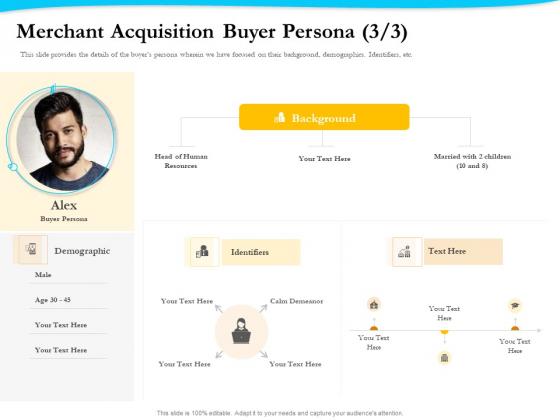 Payment Processor Merchant Acquisition Buyer Persona Calm Ppt Ideas Visuals PDF