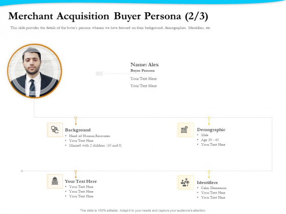 Payment Processor Merchant Acquisition Buyer Persona Infographics PDF
