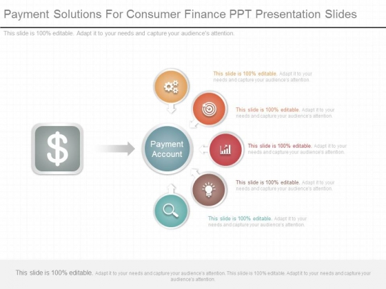Payment Solutions For Consumer Finance Ppt Presentation Slides