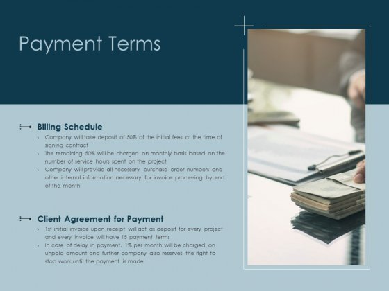 Payment Terms Agreement Ppt PowerPoint Presentation Show Outfit