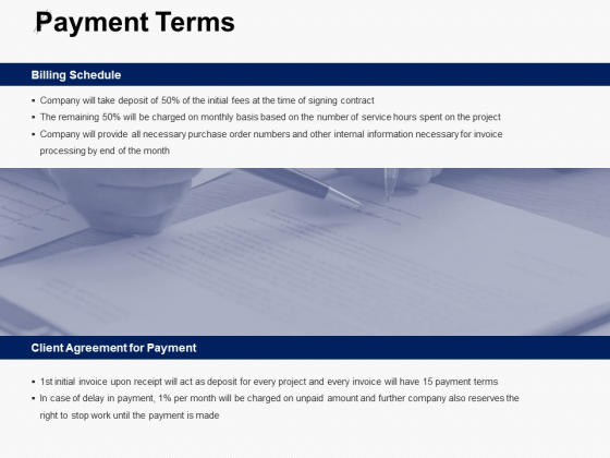 Payment Terms Schedule Ppt PowerPoint Presentation Slides Graphics