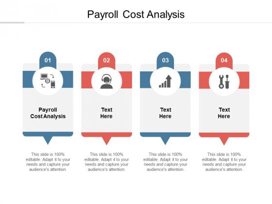 Payroll Cost Analysis Ppt PowerPoint Presentation Portfolio Show Cpb