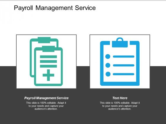 Payroll Management Service Ppt PowerPoint Presentation Slides Templates Cpb