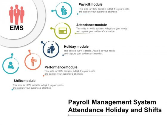 Payroll Management System Attendance Holiday And Shifts Ppt PowerPoint Presentation Slides Format Ideas