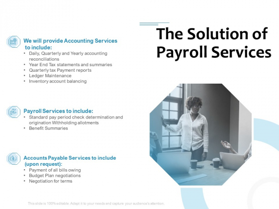 Payroll Outsourcing Service The Solution Of Payroll Services Ppt Styles Smartart PDF