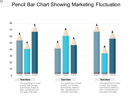 Pencil Bar Chart Showing Marketing Fluctuation Ppt PowerPoint Presentation Outline Show