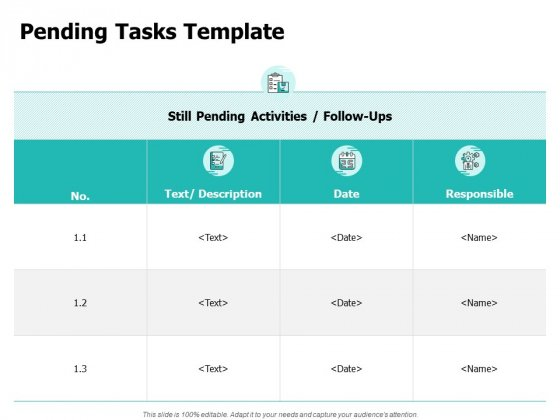 Pending Tasks Template Ppt PowerPoint Presentation Professional Picture