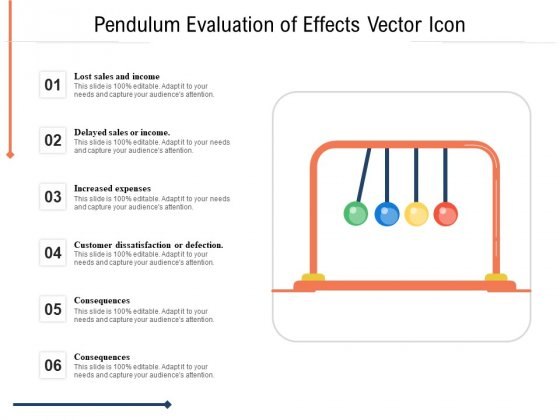 Pendulum Evaluation Of Effects Vector Icon Ppt PowerPoint Presentation Slides Designs Download PDF