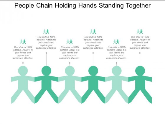 People Chain Holding Hands Standing Together Ppt Powerpoint Presentation Outline Templates