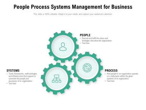 People Process Systems Management For Business Ppt PowerPoint Presentation Summary Demonstration PDF