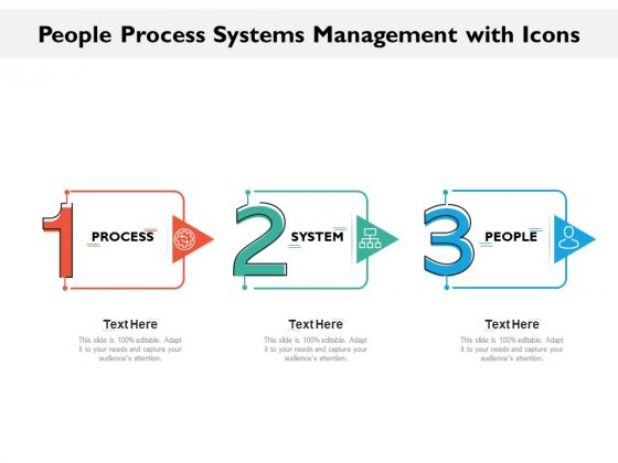 People Process Systems Management With Icons Ppt PowerPoint Presentation Layouts Slide Download PDF