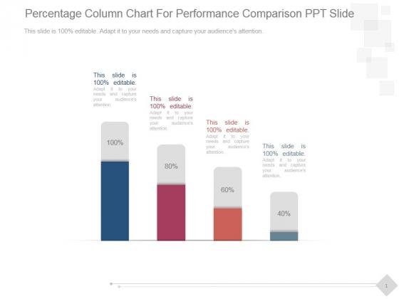Percentage Column Chart For Performance Comparison Ppt PowerPoint Presentation Good