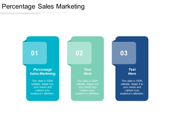Percentage Sales Marketing Ppt PowerPoint Presentation Model Example Cpb