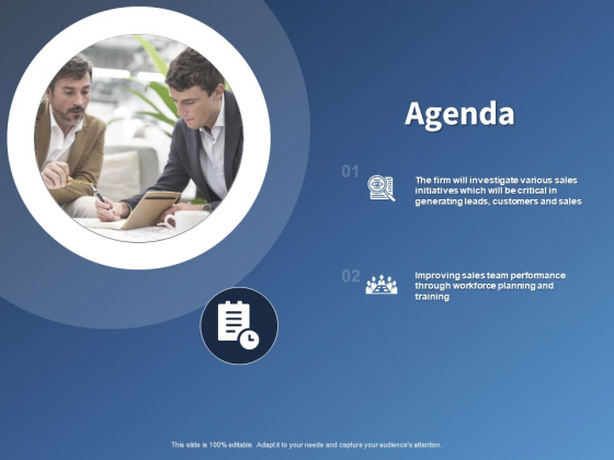 Performance Assessment And Sales Initiative Report Agenda Ppt Gallery Gridlines PDF