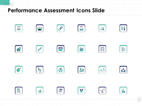 Performance Assessment Icons Slide Ppt Ideas Graphics Template PDF