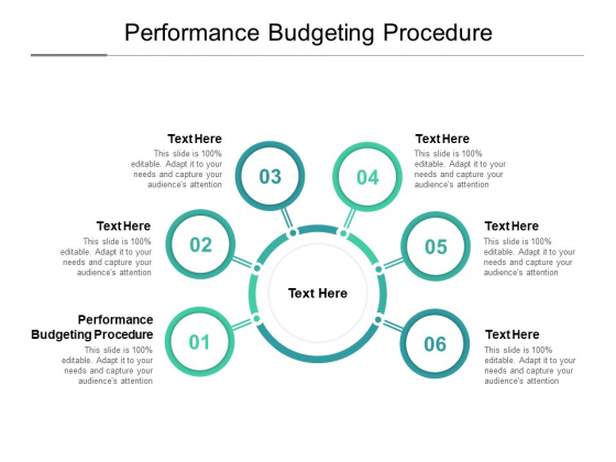 Performance Budgeting Procedure Ppt PowerPoint Presentation Ideas Guidelines Cpb