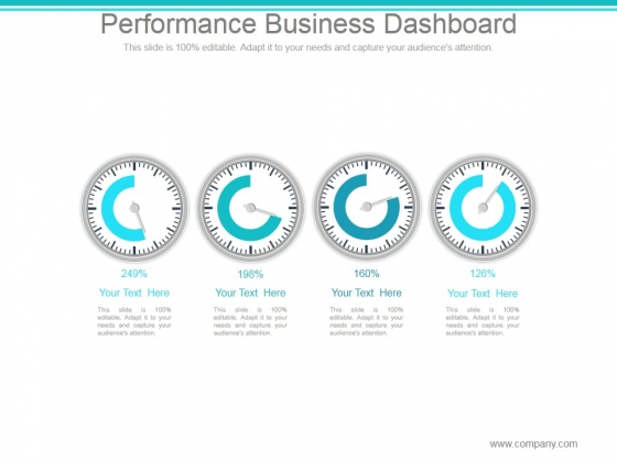 Performance Business Dashboard Ppt PowerPoint Presentation Visuals