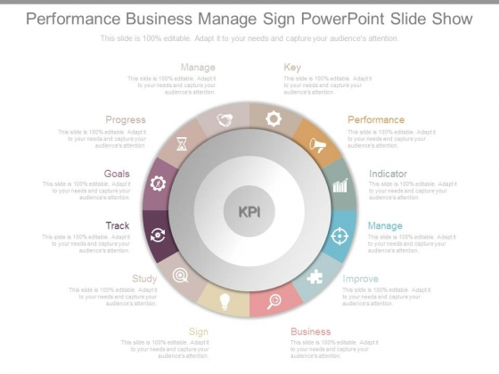 Performance Business Manage Sign Powerpoint Slide Show