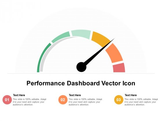 Performance Dashboard Vector Icon Ppt PowerPoint Presentation Styles Demonstration PDF