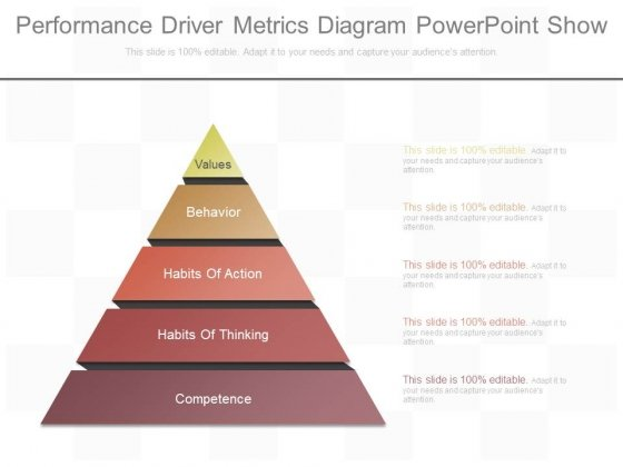 Performance Driver Metrics Diagram Powerpoint Show