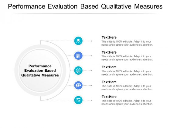 Performance Evaluation Based Qualitative Measures Ppt PowerPoint Presentation Infographic Template Influencers Cpb